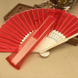 Silk Wedding Hand Fan with organza