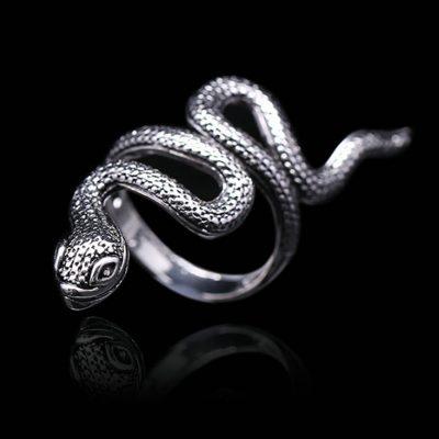 1pc New Gothic Silver Men *Women Hot Ring Snake