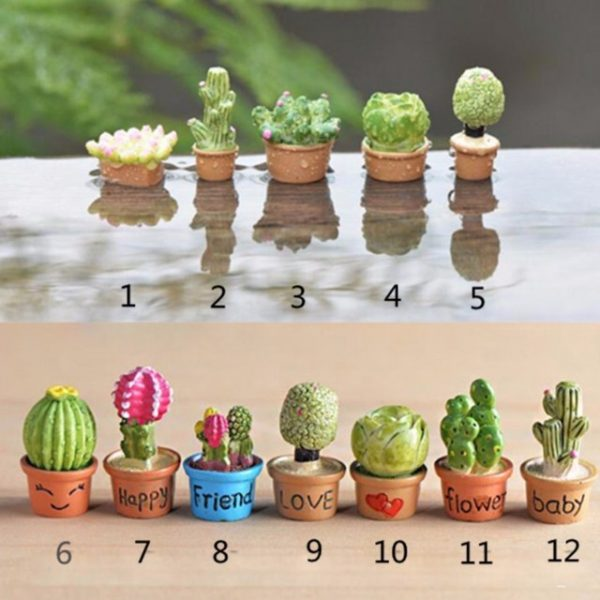 13 Pcs Mini Flower Trees Miniature Plants Garden