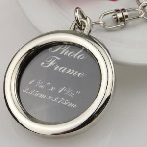 Fashion Frame Keyring Alloy Keychain