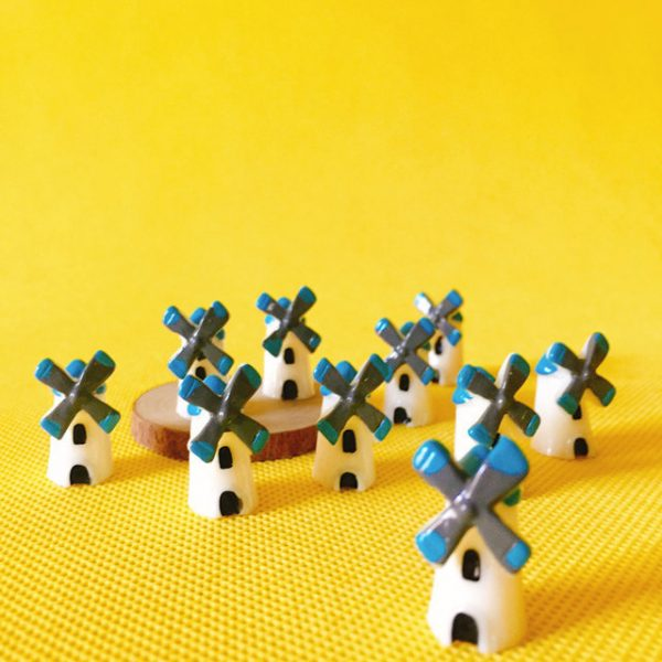 5 Pcs windmill/fairy garden miniature