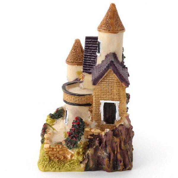 1 pcs Cute Mini Resin House Miniature House