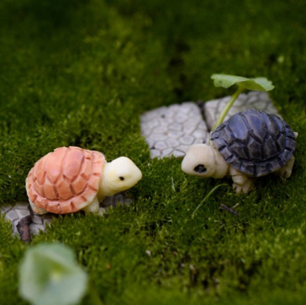 Mini Turtle Tortoise Miniature Fairy Garden Decoration DIY Doll House Terrarium