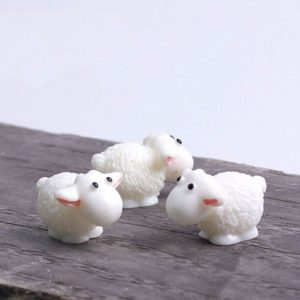 5PCS Mini Sheep Micro House Fairy