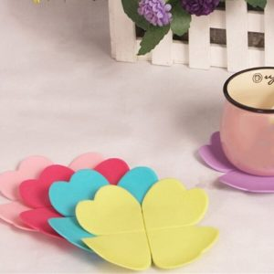Durable Cute Flowers Silicone Heat Resistant Cup Mats