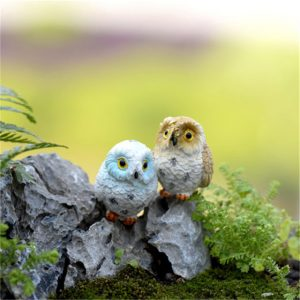 Owl Figurine Miniature Animal Decoration 4pcs
