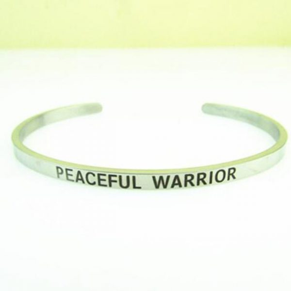 1PCS Stainless Steel PEACEFUL WARRIOR