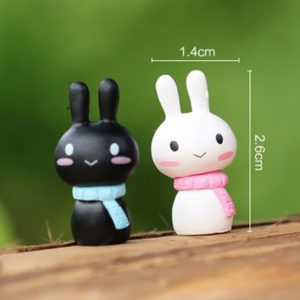 2 pcs/ Set Rabbit fairy home micro garden decoration moss doll house ornaments miniature