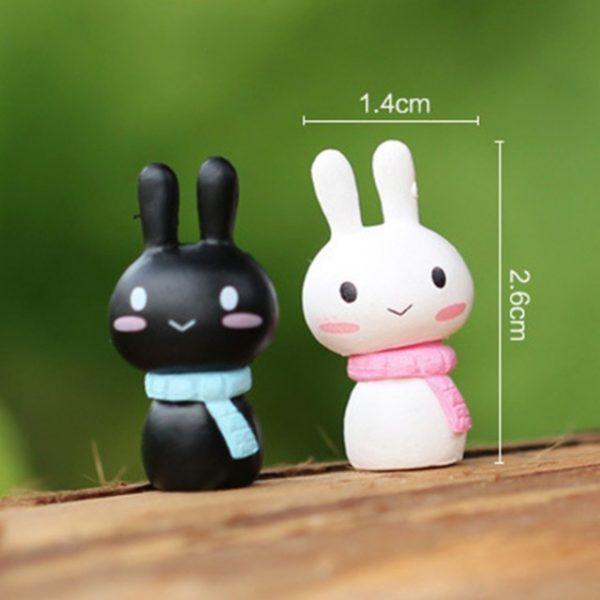 2 pcs/ Set Rabbit fairy home micro garden decoration moss doll house ornaments miniature