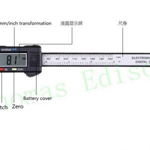 150mm 6 inch LCD Digital Electronic Carbon Fiber Vernier Caliper