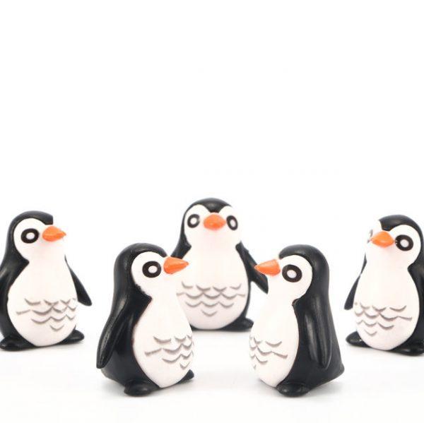 5pcs Resin Penguin Model Micro Landscape