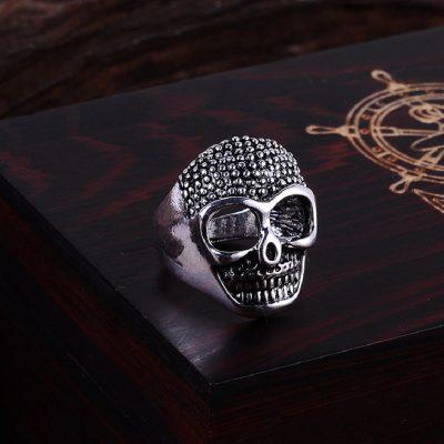 Skull Head Shape Zinc Alloy Ring