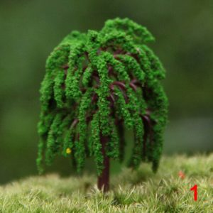 Artificial willow trees miniature plants fairy garden