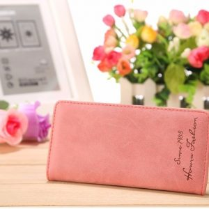 Handy Women Clutch Fashion PU Leather 2 Fold Wallets Female Long Wallet