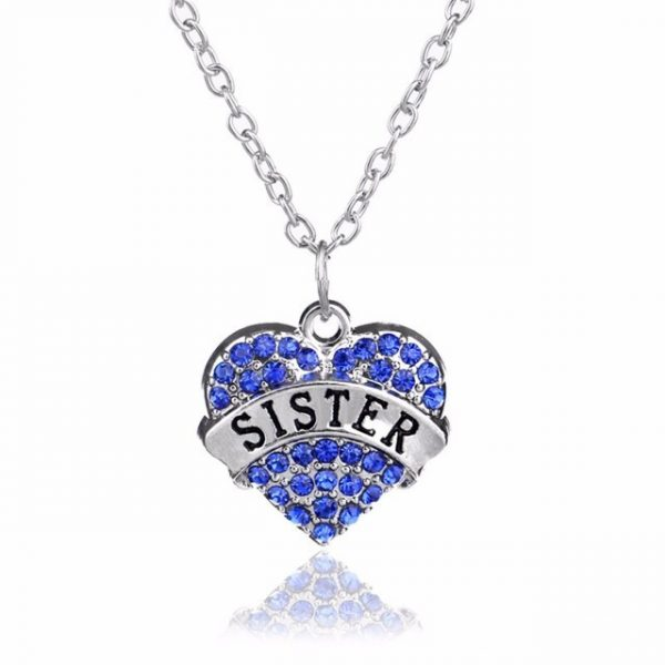 "Heart Pendant with Letter ""Sister"""