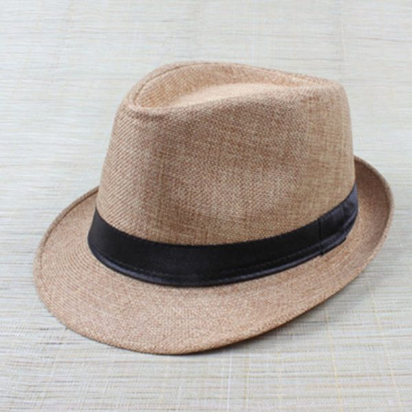 Hot Unisex Hat Women Hat Men Gangster Summer Beach Cap Beige