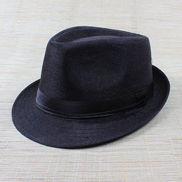 Hot Unisex Hat Women Hat Men Gangster Summer Beach Cap Black