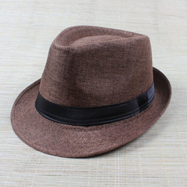 Hot Unisex Hat Women Hat Men Gangster Summer Beach Cap Coffee