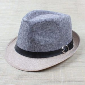 Hot Unisex Hat Women Hat Men Gangster Summer Beach Cap Grey Beige