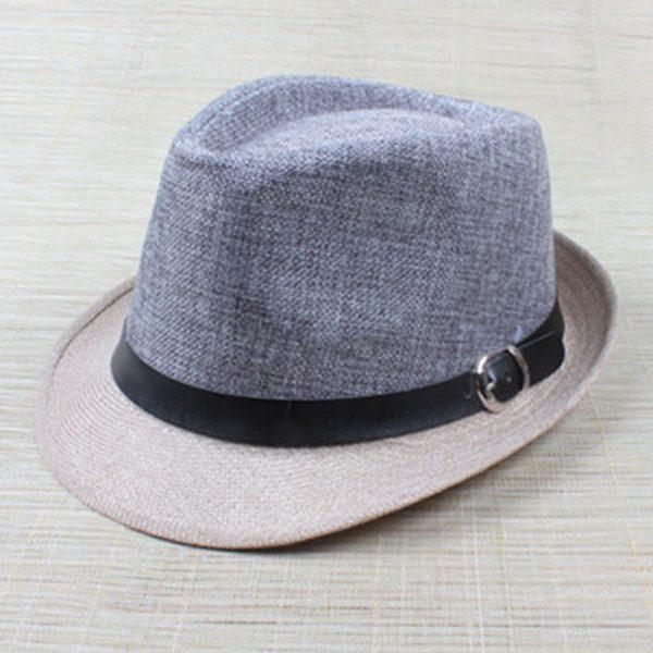 Hot Unisex Hat Women Hat Men Gangster Summer Beach Cap Grey Beige