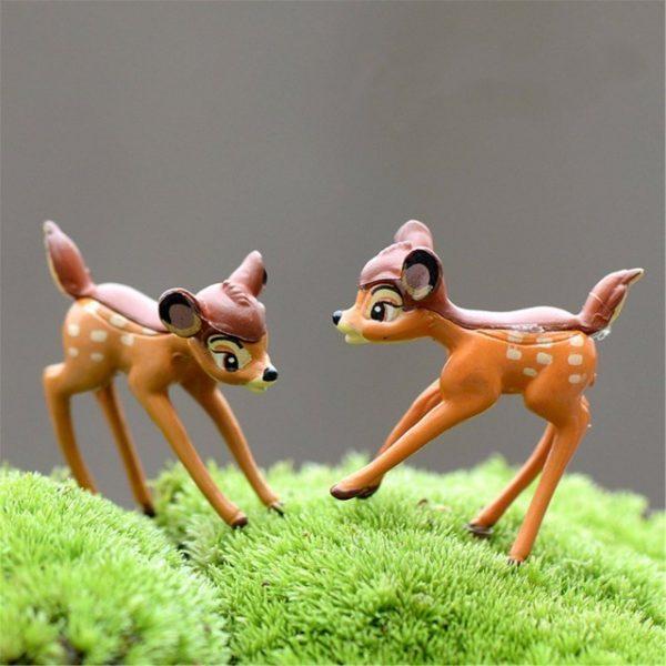 2pcs/lot Artificial mini sika deer fairy garden miniatures gnomes moss terrariums resin crafts
