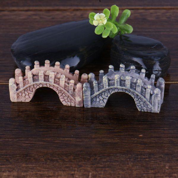 1Pcs Mini Bridge Miniature Landscape Fairy Garden Terrarium Decor Tool Garden Crafts Hot Sale