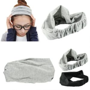 Vintage Wide Ribbon Headband women Hair Band Bandanas Scarf Fashion