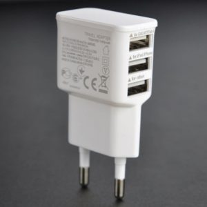 5V 2A EU Plug 3 Ports USB Wall Travel Charger Adapter for Iphone 6 6S