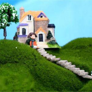 One Set Mini Artificial Stairs Garden Decoration Accessories Fairy Garden Miniatures DIY Craft Micro Landscaping