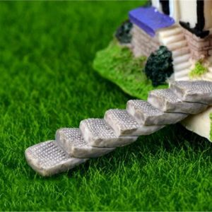 One Set Mini Artificial Stairs Garden Decoration Accessories Fairy Garden Miniatures DIY Craft Micro Landscaping