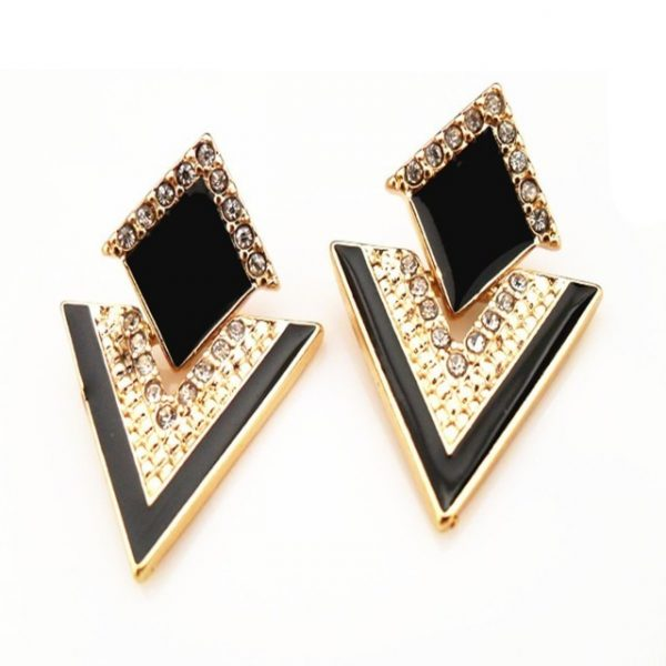Jewelry Vintage Brand Crystal Stud Earrings For Women