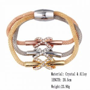 Crystal Butterful Bracelet & Bangle Elastic Heart Bracelets For Women