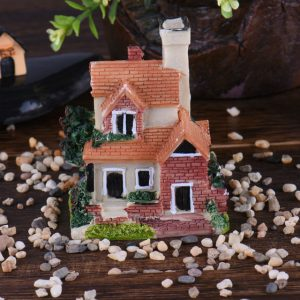 Cute Mini Resin House Miniature House Fairy Garden Micro Landscape Home Garden Decoration Resin Crafts Color
