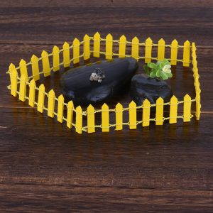5Pcs/Lot Miniature Small Wood Fence DIY Fairy Garden Micro Dollhouse Plant Pot Decor Bonsai Terrarium