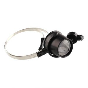 LED Light 15X Eye Jeweler Coins Loupe Magnifier