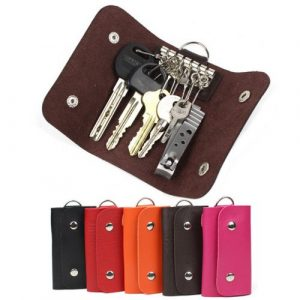 Fashion gifts Keys holder Organizer Manager patent leather Buckle key wallet case car keychain