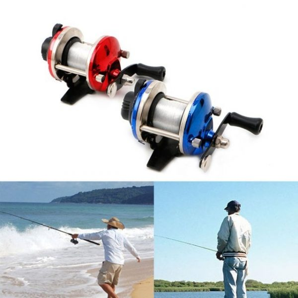 Fishing Accessories Right Hand Fish Reel With 0.2mm Line 50m For Sea Rock River Boat Ice Fishing