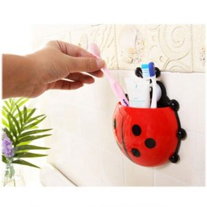 Ladybug Cartoon Sucker Toothbrush Holder
