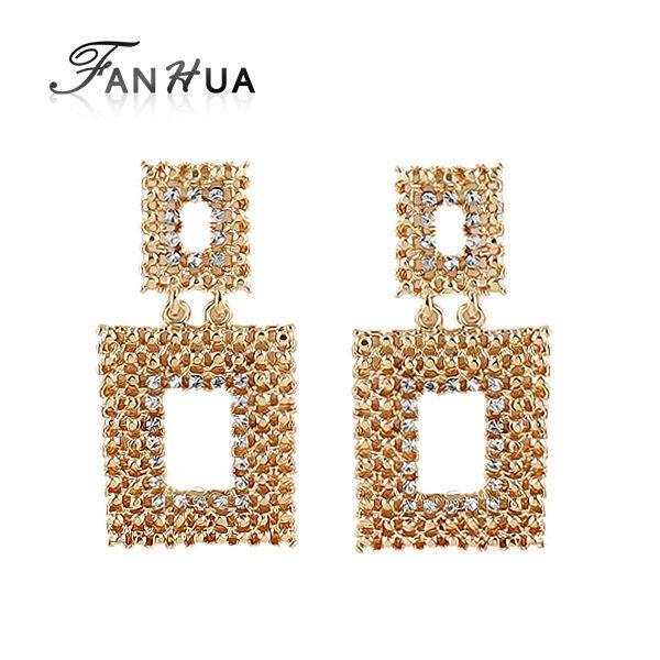Luxury-Clear-Rhinestone-earrings at clicknorder.pk