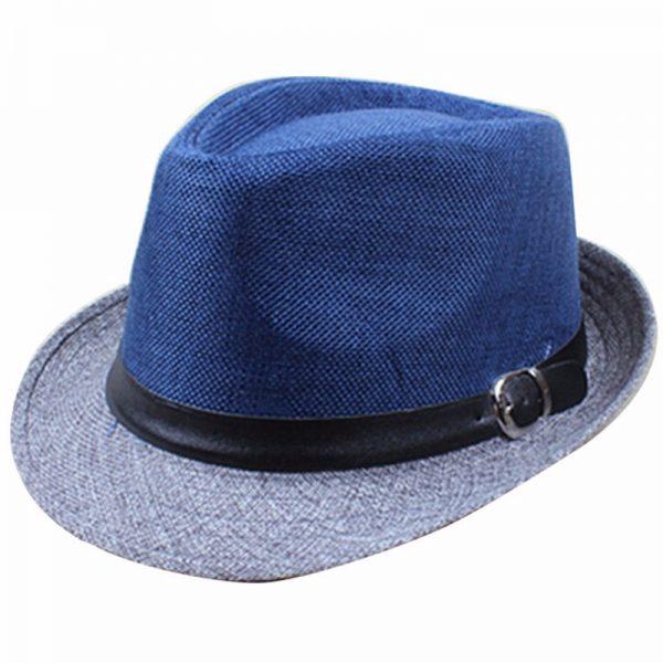 Hot Unisex Hat Women Hat Men Gangster Summer Beach Cap Blue Grey ... 687fa806550