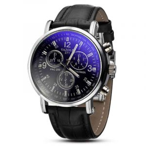 Men Necessary Business Watch Luxury Crocodile Faux Leather