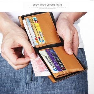 Men Wallet Brand Quality Leather Card Holder Purse