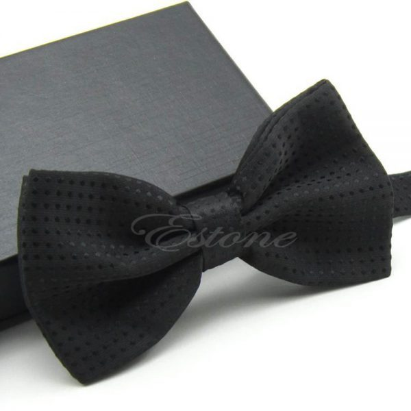 Men's Adjustable Polka Dot Bow Tie Polyester