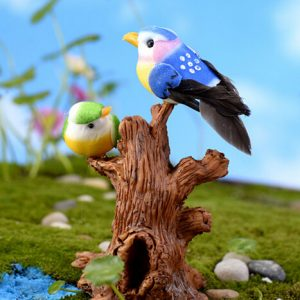 Miniature Garden home bird decoration resin cute fat artificial birds living room decoration resin bird