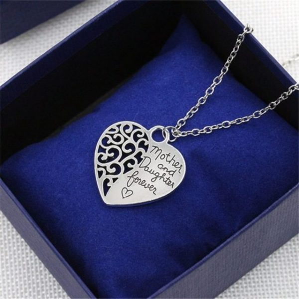 Mother and Daughter Eternal Love Pendant Sweater Chain Necklace
