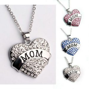Mother's Day Gifts Crystal Heart Pendant Necklace