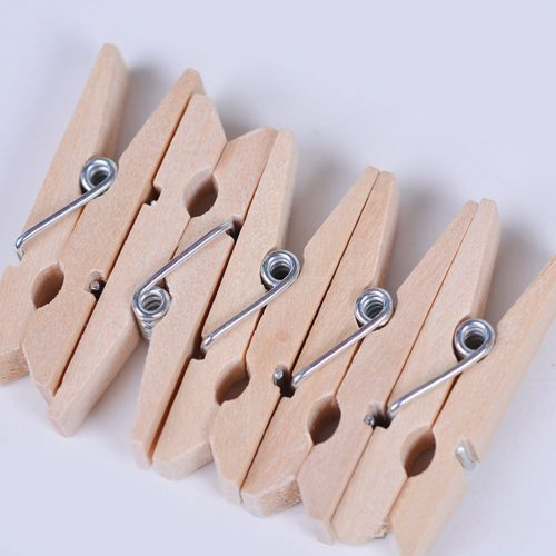 Mini Wooden Pins Art Craft Paper Peg Pin