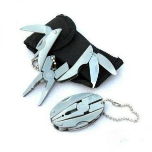 Portable Multi Function Folding Pocket Tools Plier Knife Keychain Screwdriver