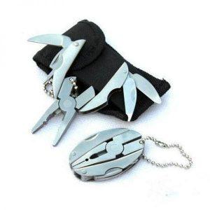 Portable Multi Function Folding Pocket Tools Plier Knife Keychain Screwdriver