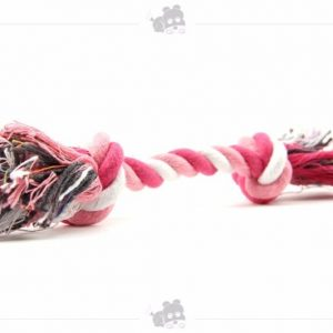 Puppy Dog Pet Toy Cotton Braided Bone Rope Double knot cotton rope trumpet Chew Knot
